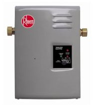 Rheem RTE 13 electric tankless water heater.